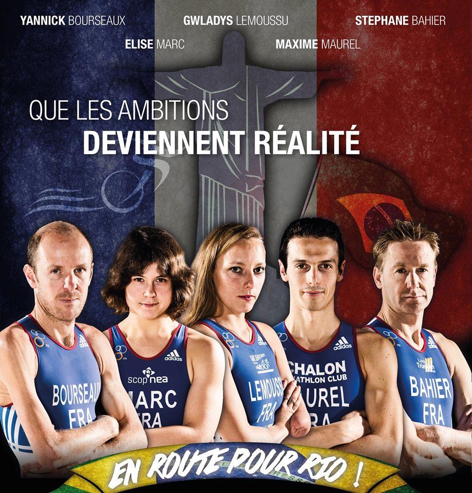 L'équipe de France Paratriathlon